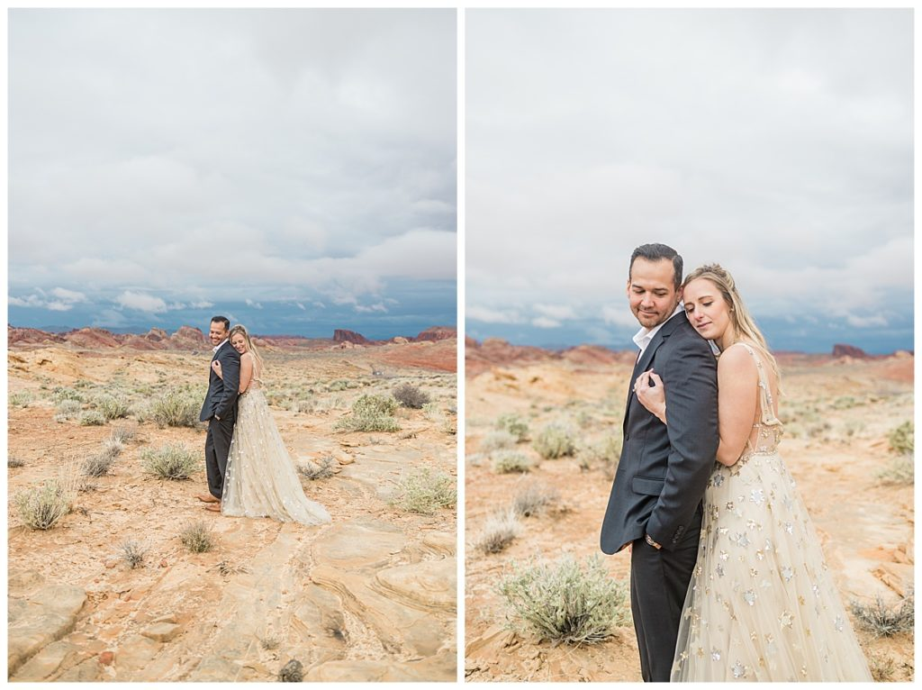 Rainy Elopement Styled Shoot in Las Vegas