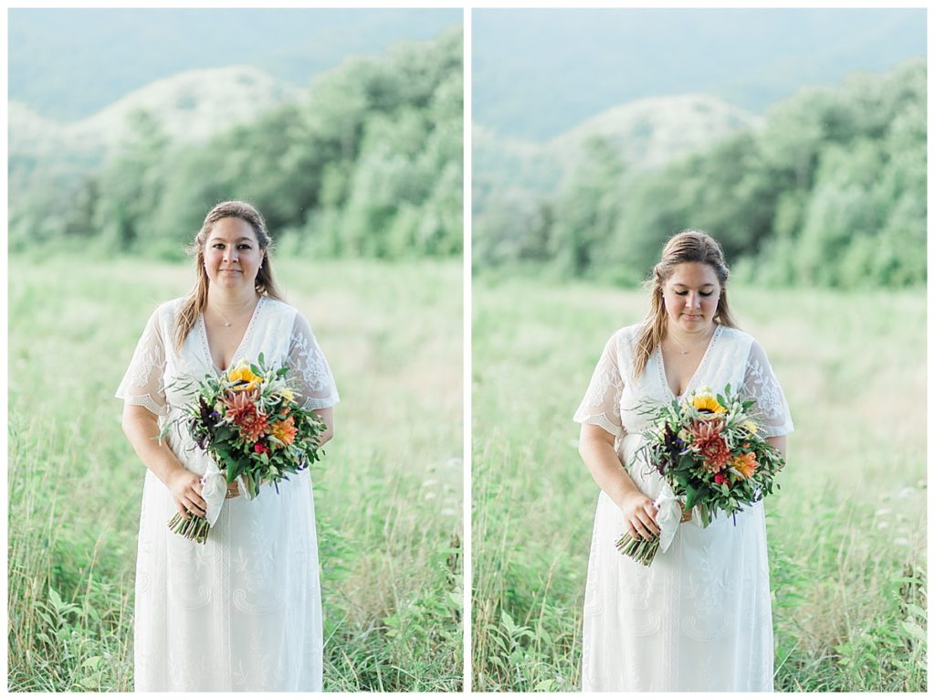 Bride Photos in Townsend Ike LeQuire Overlook