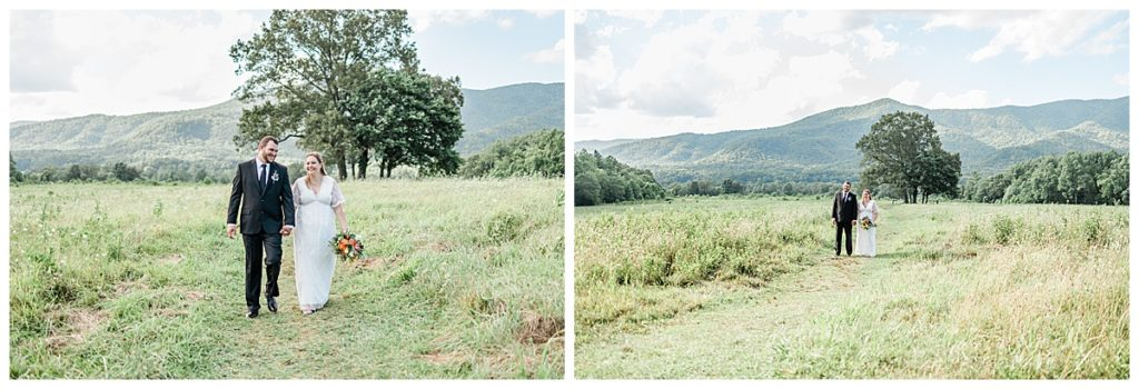 Mountain View Elopement Portraits in Tennessee