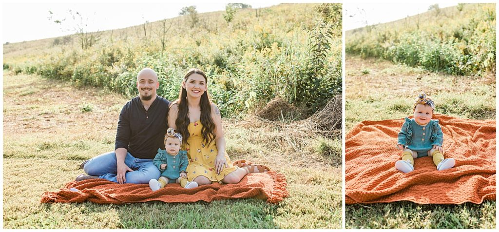 engaged family session fall mini sessions