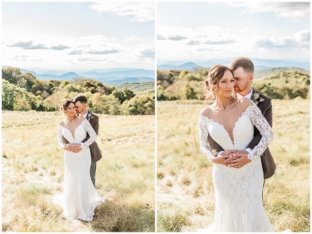 Adventurous couple for a Max Patch elopement in NC