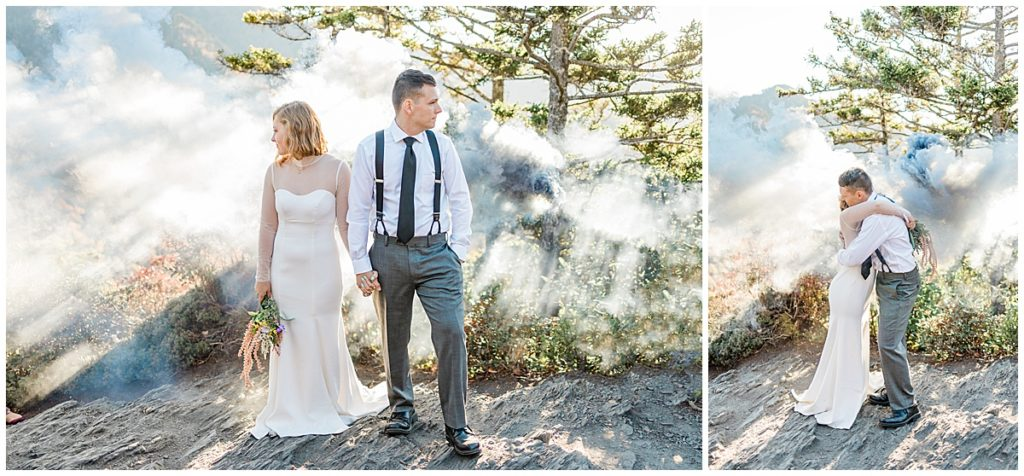 Mountain Adventure Elopement at Alum Cave Trail on Mount Leconte in the Smokies