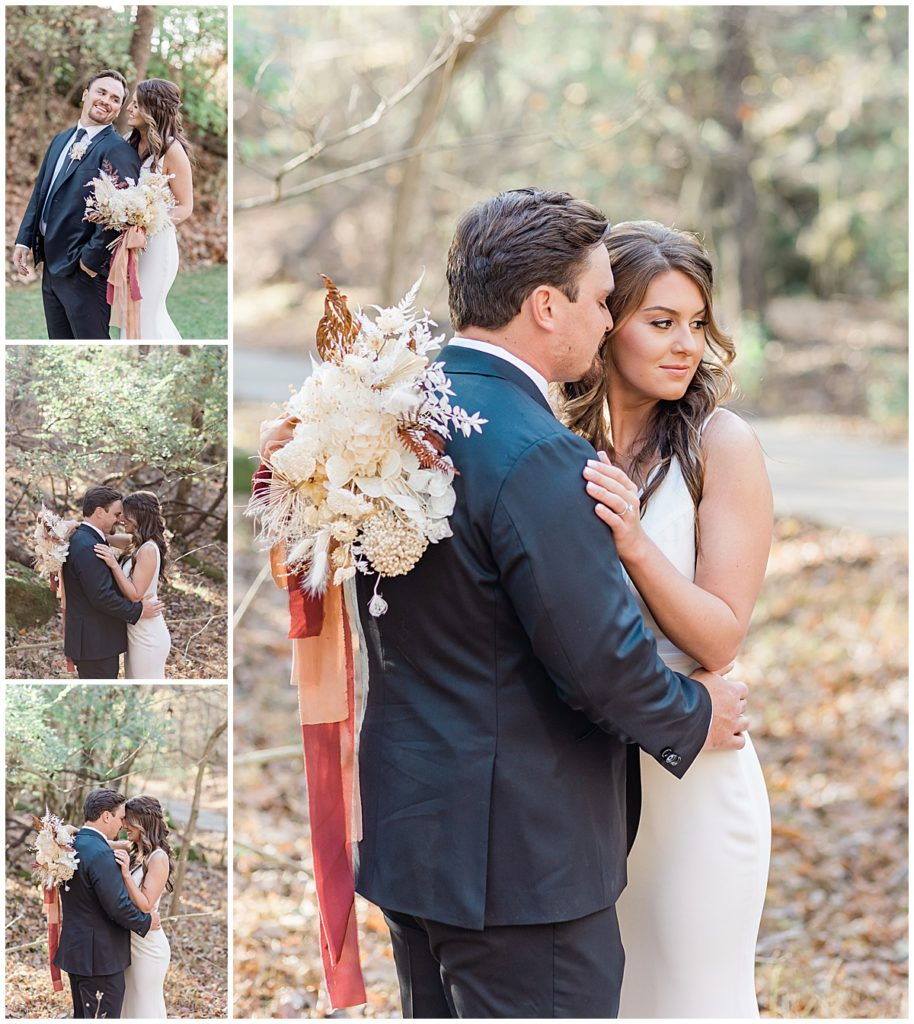 Bride and groom portraits at The Quarry Venue Knoxville