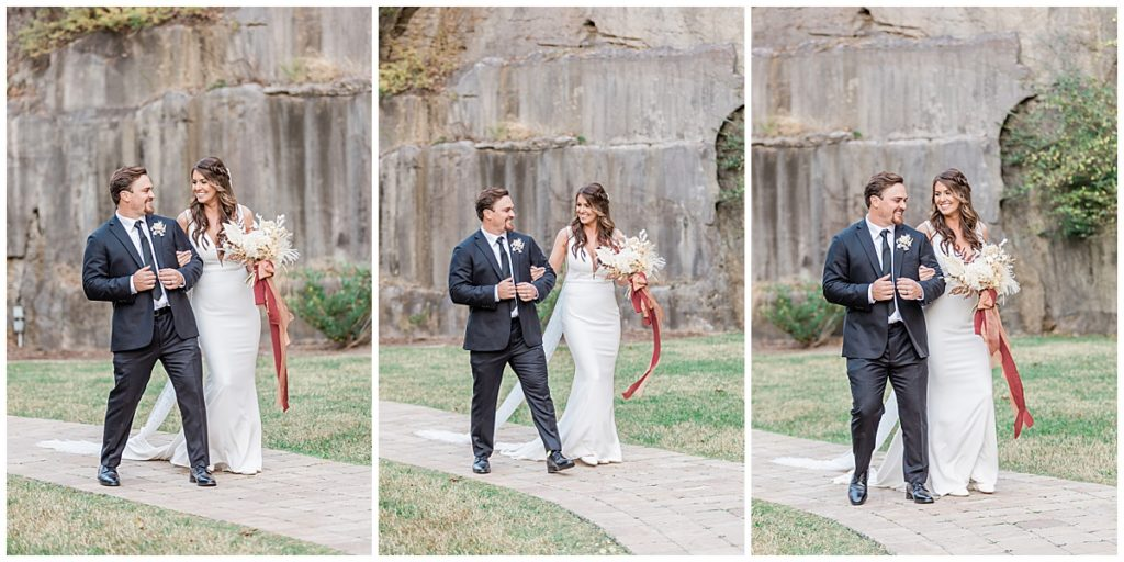 Bride and groom portraits at The Quarry Venue Knoxville Tennesses