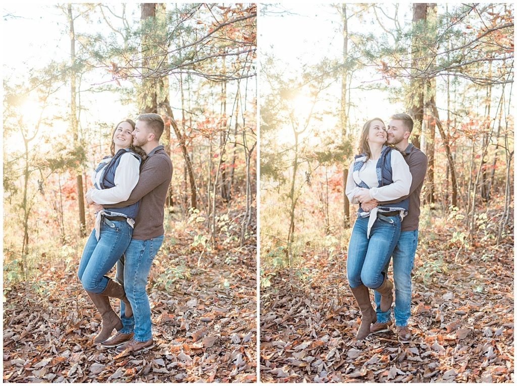 Fall Wears Valley Engagement Session at The Missing Link on Foothills Parkway