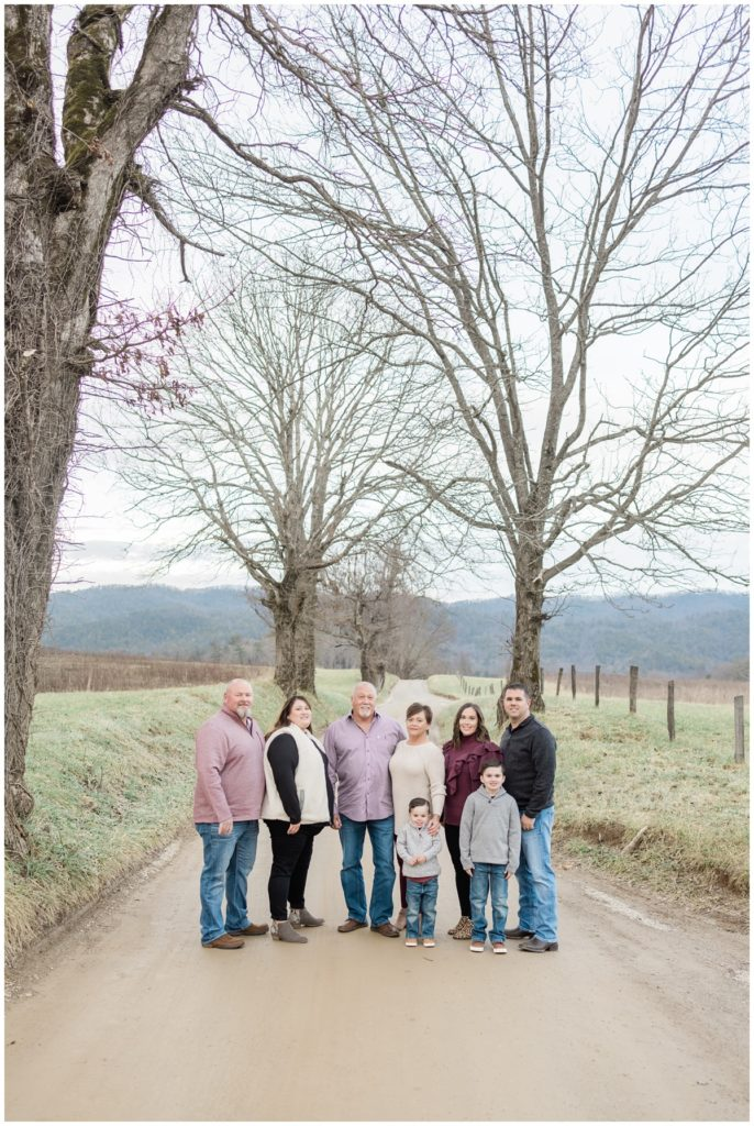 Smoky Mountain Extended Family Photograph in Cades Cove